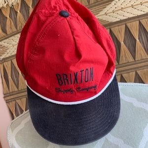 Red Brixton Supply Company Snap Back Hat